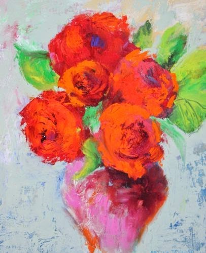 """Mother's Day Bouquet 4, Contemporary Floral Paintings by Arizona Artist Amy Whitehouse"" original fine art by Amy Whitehouse"