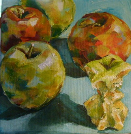 """""""And now,I will eat all the apples..."""" original fine art by Sabine Hüning"""