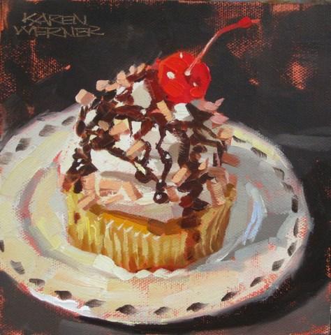 """""""Cherry On Top"""" original fine art by Karen Werner"""