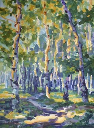 """Shadows on the Trail"" original fine art by K.R. McCain"