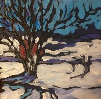 """Elm Creek Ski Trail"" original fine art by Kat Corrigan"