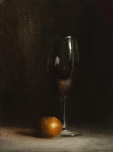 """""""Glass of Red"""" original fine art by Neil Carroll"""