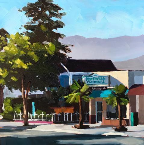 """Rockwell Cleaners"" original fine art by Sharon Schock"
