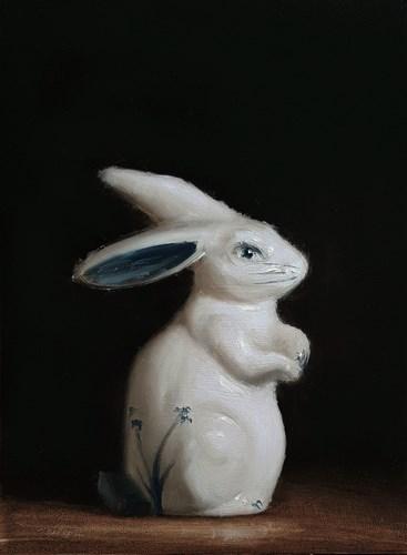 """""""Rabbit"""" original fine art by Neil Carroll"""