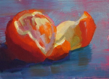 """Orange Appeal"" original fine art by Carol Myer"