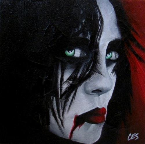 """""""Vampiress"""" original fine art by ~ces~ Christine E. S. Code"""