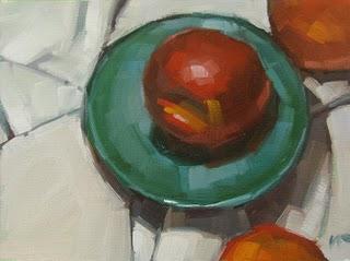 """""""One on a Plate"""" original fine art by Carol Marine"""