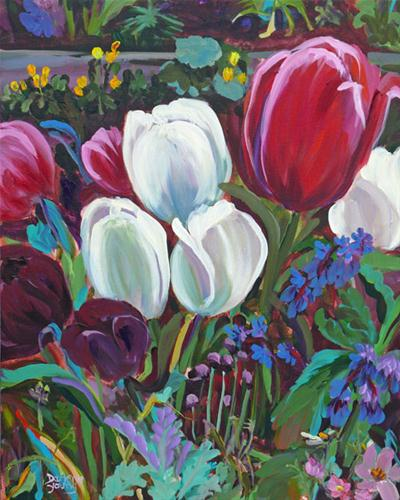 """""""More Tulips"""" original fine art by Darlene Young"""
