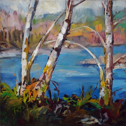 """Spring on the River"" original fine art by Robin Peterson"