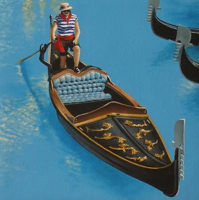"""1 of 4 - Gondola Commission"" original fine art by Jelaine Faunce"