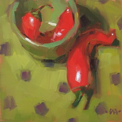 """Cooped Up --- SOLD"" original fine art by Carol Marine"