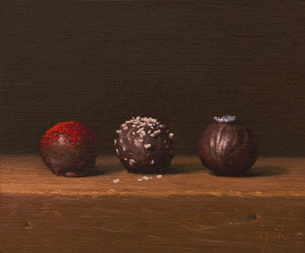 """""""Truffles (Red, White, and Blue), 2012"""" original fine art by Abbey Ryan"""