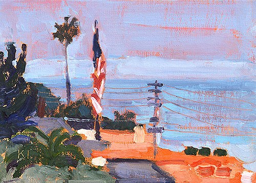 """Ocean Beach Plein Air"" original fine art by Kevin Inman"