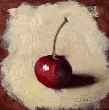 """Cherry on Copper"" original fine art by Cindy Haase"