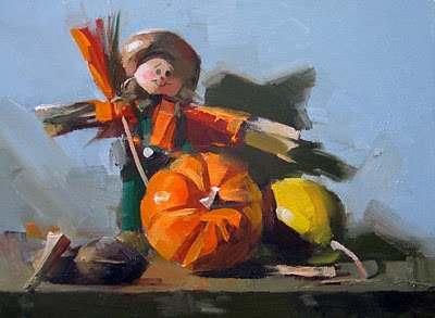 """""""Harvest Time"""" original fine art by Qiang Huang"""