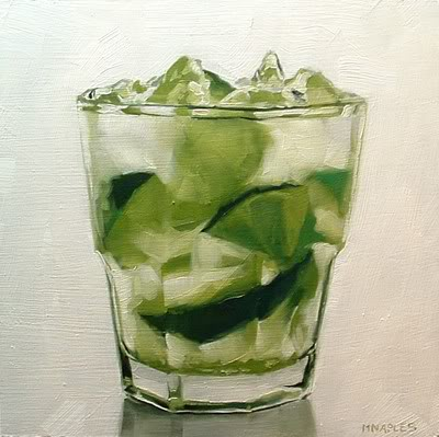 """Holiday Drink No.1"" original fine art by Michael Naples"