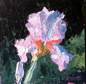 """Iris again"" original fine art by Kristen Dukat"