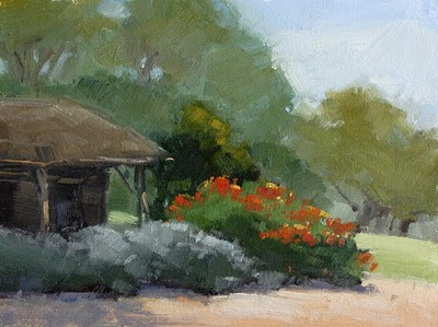 """Cabin Entrance"" original fine art by Laurel Daniel"