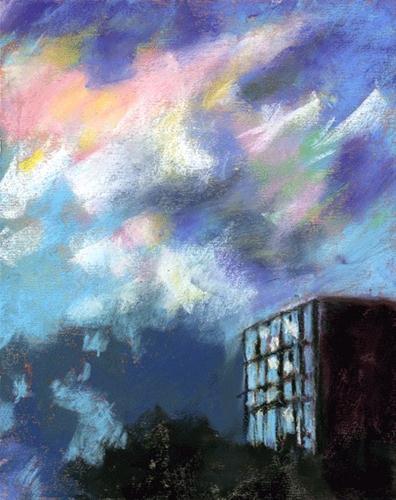 """""""Sundown Hurries"""" original fine art by Donna Crosby"""