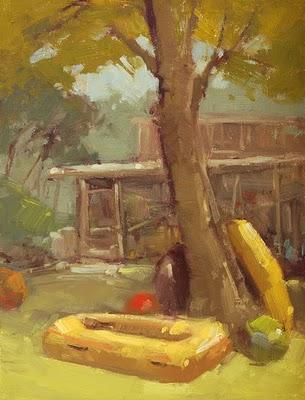 """Beach Shack"" original fine art by Laurel Daniel"