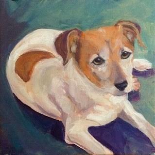 """""""Jasper, BJ's Pup"""" original fine art by Lyn Gill"""