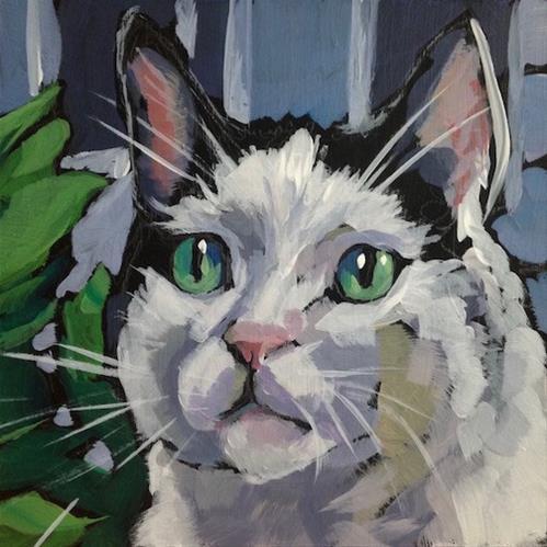 """MArch 21, Haffy"" original fine art by Kat Corrigan"