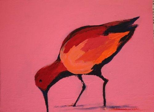 """Sea Bird, Contemporary Animal Paintings by Arizona Artist Amy Whitehouse"" original fine art by Amy Whitehouse"