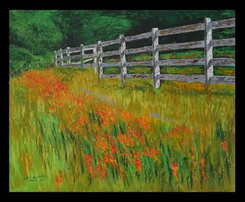 """""""Day Lilly Profusion"""" original fine art by Captain B Smith"""