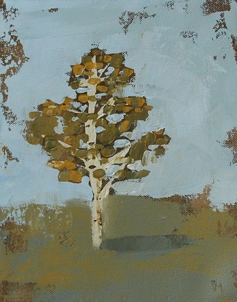 """November Tree"" original fine art by Pamela Munger"