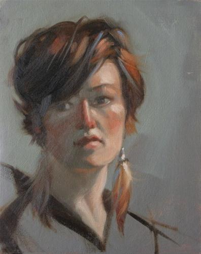 """Victoria  8x10 oil"" original fine art by Claudia Hammer"