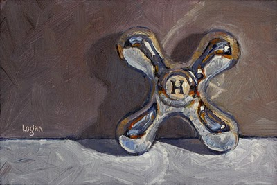 """Hot Handle"" original fine art by Raymond Logan"