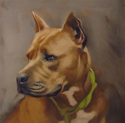 """""""Kobo painting of a dog by Hoeptner"""" original fine art by Diane Hoeptner"""