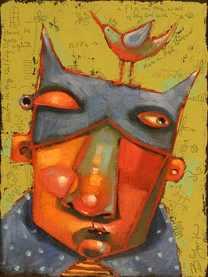 """B-Man And Robin"" original fine art by Brenda York"