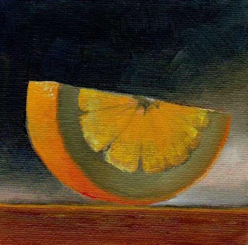 """slice of orange"" original fine art by Mark DeBak"