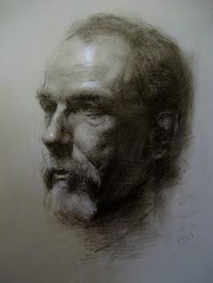 """head drawing"" original fine art by Fongwei Liu"