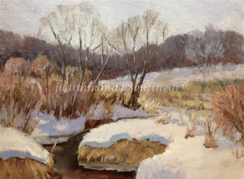 """Winter at Purgatory Park"" original fine art by Judith Anderson"