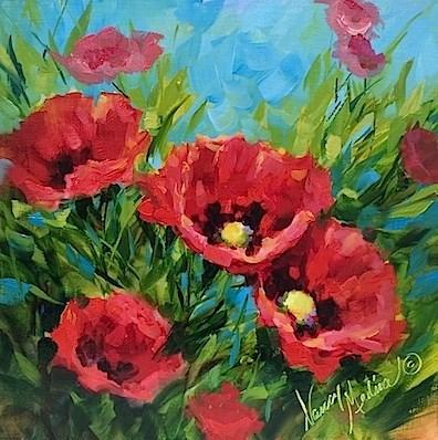 """A New Poppy Video - Flower Paintings by Nancy Medina"" original fine art by Nancy Medina"