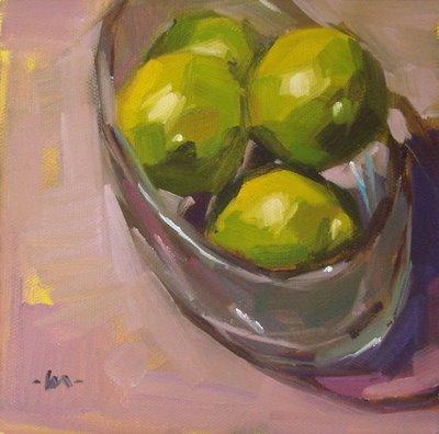 """Limes in the Sun"" original fine art by Carol Marine"