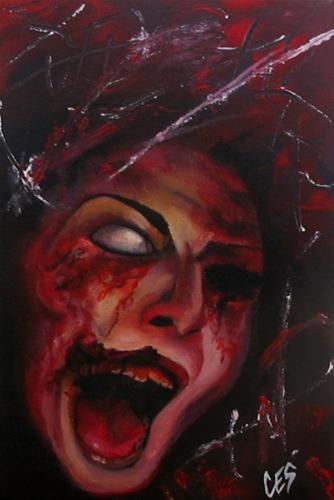 """""""Zombie"""" original fine art by ~ces~ Christine E. S. Code"""