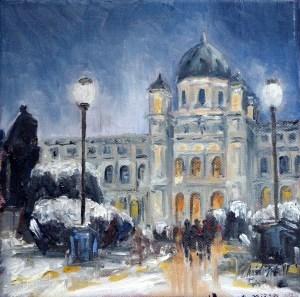 """""""Kunsthistorisches Museum in Wien"""" original fine art by Christa Friedl"""