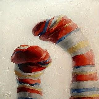 """Sock Puppets"" original fine art by Michael Naples"