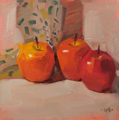 """Apple Club"" original fine art by Carol Marine"