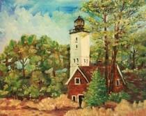 """Lighthouse"" original fine art by Maggie Flatley"