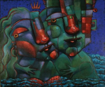"""P. B. Mama And Sama Sama"" original fine art by Brenda York"
