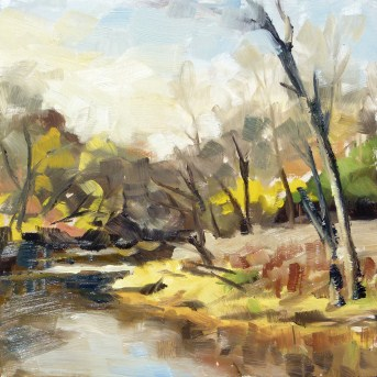 """Plein air at the River Trail"" original fine art by Deb Anderson"