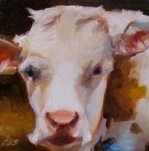 """Cow Portrait"" original fine art by ~ces~ Christine E. S. Code"
