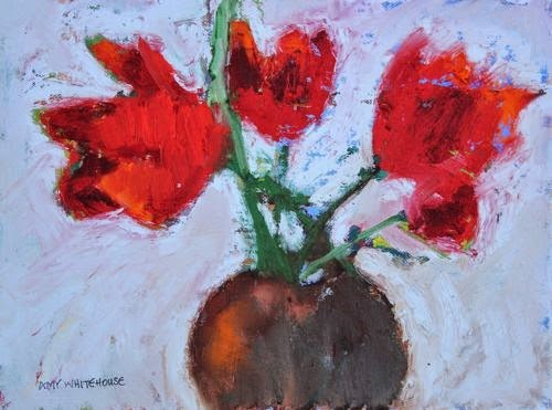 """""""Abstracted Tulips, Contemporary Floral Paintings by Arizona Artist Amy Whitehouse"""" original fine art by Amy Whitehouse"""