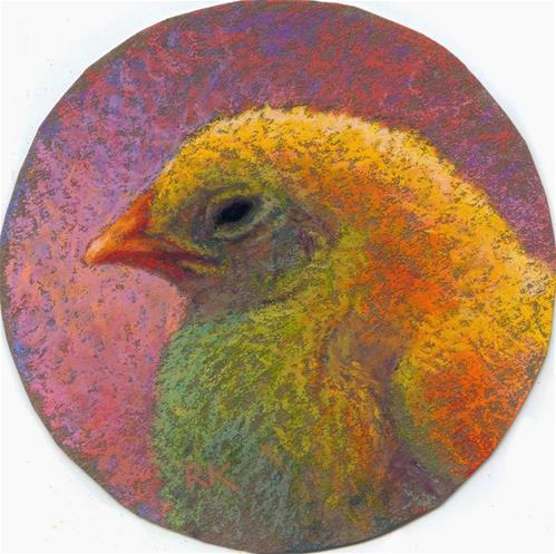 """Chick Profile #2"" original fine art by Rita Kirkman"