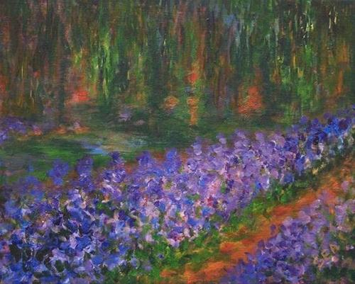 """""""2084 - Giverny 1900 Inspired by Monet"""" original fine art by Sea Dean"""