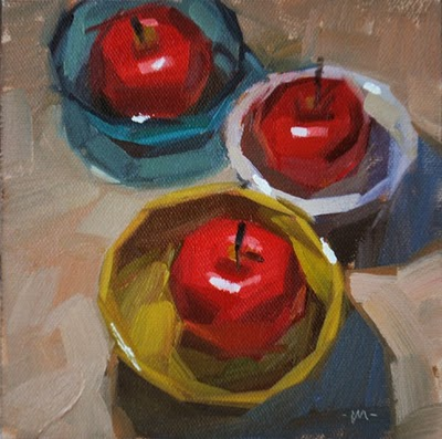 """Apple Boats"" original fine art by Carol Marine"